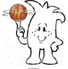 drawing of a guy spinning a basketball by toons4biz 1070