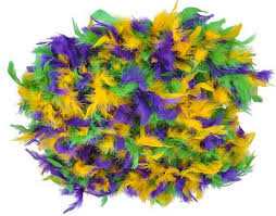 mardi gras feather boas 6ft mardi gras boas in bulk z novelties