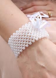 corsage wristlet pearl bead corsage bracelet diy wrist corsage afloral