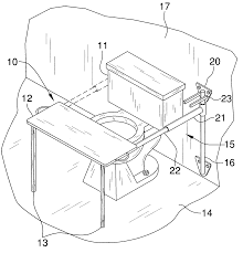 patent us6983493 retractable table top for a toilet google patents