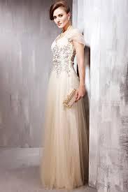 tulle wedding dresses uk chagne glamorous wedding dress with cap sleeves by elliot