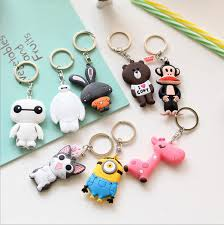 cute key rings images Cute key chain minion key ring creative couple models key fob jpg