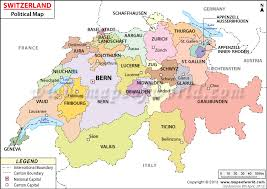 swiss map political map of switzerland switzerland cantons map