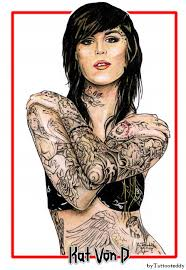 portrait of kat von d by tattooteddy on stars portraits