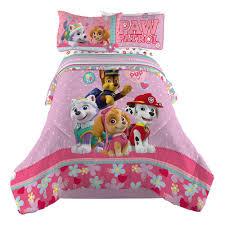 Girls Bedroom Quilt Sets Paw Patrol Pink Reversible Comforter Best Pup Pal Cartoon Twin
