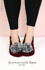 crochet slippers free crochet pattern consumer crafts