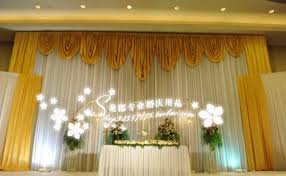 wedding backdrop aliexpress 20ft 10ft white and gold wedding backdrop curtain with swag