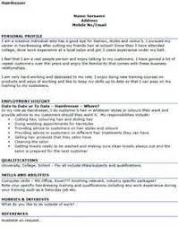 Hairdresser Resume Sample by Cv Templates Hairdressing Resume Format For Retired Person