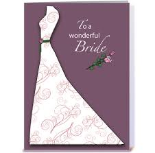 bridal cards bridal shower plum dress congratulations greeting card by