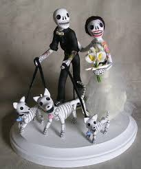 day of the dead wedding cake topper day of the dead wedding cake topper by claylindo on deviantart