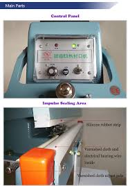 china manual foot pedal sealing machine direct heat sealer for