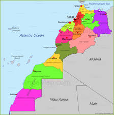 Tanger Map Morocco Map Map Of Morocco Annamap Com