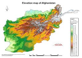 kabul map afghanistan elevation map afghanistan mappery