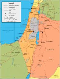 political map of israel israel map and satellite image