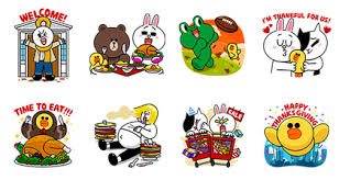 line friends thanksgiving line stickers