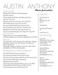 Resume Me Résumé U2014 Austin Anthony Photojournalist