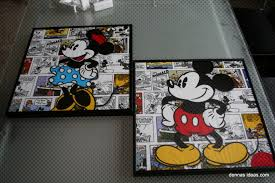 wall art design ideas printing picutres mickey mouse wall art printing picutres mickey mouse wall art decorative ideas framed hangable comic collage minnie couple romantic
