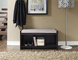 Cube Storage Bench Dorel Penelope Espresso Entryway Storage Bench With Cushion