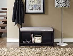 Mudroom Bench With Storage Dorel Penelope Espresso Entryway Storage Bench With Cushion