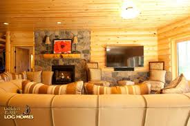 Interior Log Home Pictures Golden Eagle Log And Timber Homes Log Home Cabin Pictures