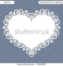 heart shaped silhouette frame raster clip stock illustration