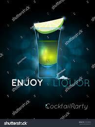 tequila shot cocktail slice lime salt stock vector 610164533