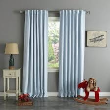 Stylish Blackout Curtains Stylish Home Thermal Rod Pocket 96 Inch Blackout Curtain