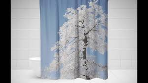 Shower Curtain With Tree Design Tree Shower Curtain Birch Tree Shower Curtain Palm Tree Shower