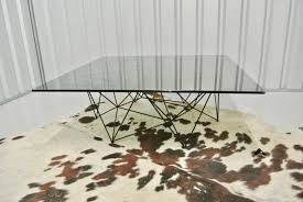 retro vintage habitat smoked glass geometric metal coffee