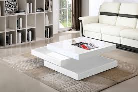 High Gloss Side Table Modern Apollo Designer High Gloss White Rotating Swivel Square