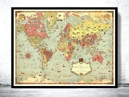 old world map wall tapestry giant vintage hanging chart various