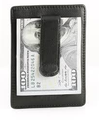 travel light in a s leather money clip wallet and card holders