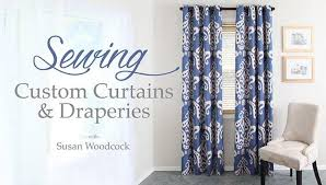 Drapery Patterns Professional Sewing Custom Curtains U0026 Draperies A Craftsy Home Decor Sewing
