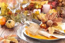 thanksgiving dinner decoration stock photo vitaina 75815129