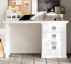 Desk With Filing Cabinet Drawer Bedford Small Desk Pottery Barn