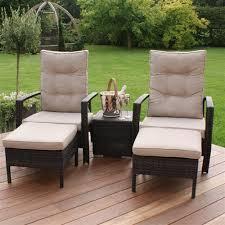 Garden Lounge Chairs Maze Rattan Reclining Highback Garden Lounge Set Internet Gardener