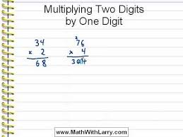 video for lesson 40 multiplying two digits by one digit youtube