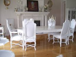 dining room floral white dining room set with wooden dining