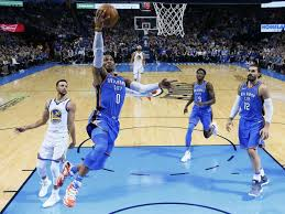 Oklahoma travel guard images Warriors have no answer for russell westbrook thunder in blowout jpg