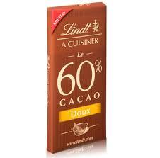 lindt a cuisiner noir 60 cacao doux