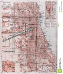 Chicago Area Map by Vintage Map Of Chicago Stock Photography Image 23262502