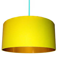 Yellow Swatches Sunshine Yellow Lampshade With Gold Or Copper Lining By Love