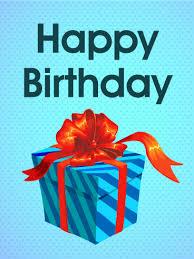 blue birthday gift box card birthday u0026 greeting cards by davia