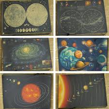 online buy wholesale solar system decoration from china solar retro kraft paper poster retro art wall home decoration moon earth galaxy solar system nine planets