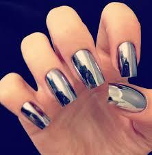 metallic nail foil wraps 16pcs silver nail patch foils metallic look tips wraps minx