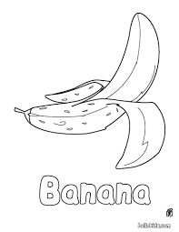 this banana coloring page is available for free in fruit coloring