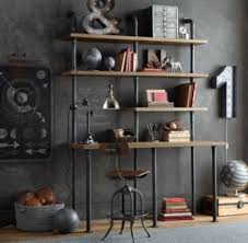 pipe desk with shelves industrial pipe double desk with shelving