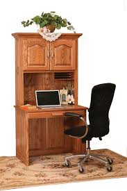 Cherry Wood Desk With Hutch Flat Top Computer Desk With Hutch Top From Dutchcrafters Amish