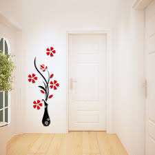 wall sticker decor 2 roselawnlutheran 3d vase flower tree wall sticker crystal acrylic home room decor 2 lazada malaysia