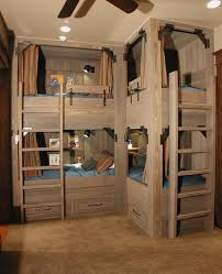 Making Wooden Bunk Beds by Bunk Beds For Four U2013 Wonderful Space Saving Additions To The Kids